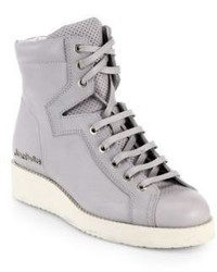 Acne Studios Leather High Top Wedge Sneakers