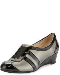 Paislee striped wedge sneaker pewter medium 647257