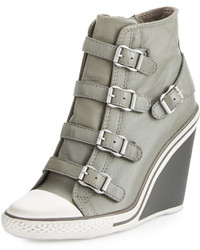 Thelma cap toe wedge sneaker stone medium 636032