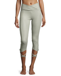 Ballerina capri athletic leggings stone fishnet medium 3661890