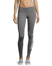 Spiritual Gangster Collegiate Logo Leggings Gray