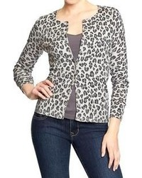 Old Navy Leopard Print Cardigans