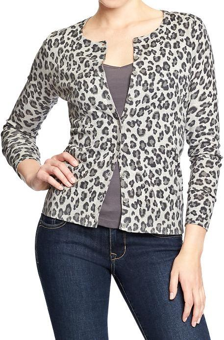 Old Navy Leopard Print Cardigans | Where to buy & how to wear