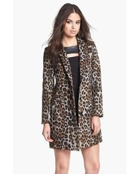 Grey Leopard Coat