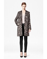 French Connection Teddy Leopard Coat