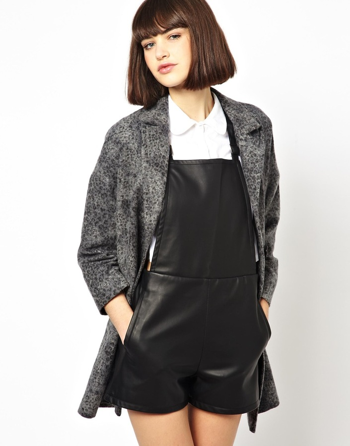 Helene Berman Classic Car Coat In Textured Wool Mix Grey | Where ...
