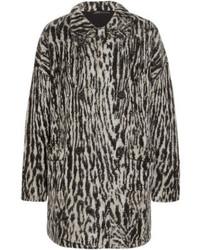 Maje Malavida Leopard Print Knitted Coat