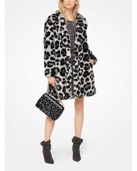 Michael Kors Michl Kors Leopard Faux Fur Jacquard Coat