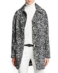 Outlet leopard print oversize coat medium 17409