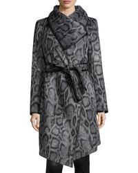 Diane von Furstenberg Polly Animal Print Belted Coat