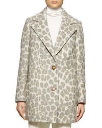Stella McCartney Leopard Print Double Button Coat