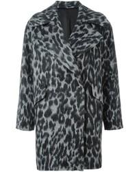 Tagliatore Leopard Oversized Coat