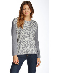 Leopard pattern sweater medium 114806