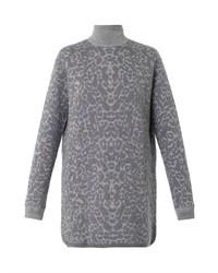 Mcq alexander mcqueen oversized leopard jacquard sweater medium 114804