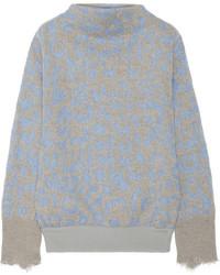 Mist leopard intarsia knitted sweater medium 114805