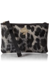Kate Spade New York Leroy Street Animal Print Bee Card Case
