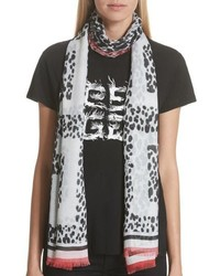 Givenchy 4g Leopard Scarf