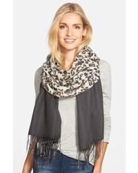 Leopard print cashmere scarf medium 842911
