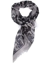 Alexander mcqueen skull print scarf medium 7666