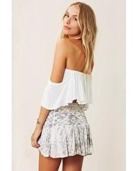 Blue Life Mini Skater Skirt In White Snake   Where to buy & how to ...