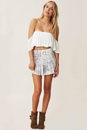 Blue Life Mini Skater Skirt In White Snake | Where to buy & how to ...