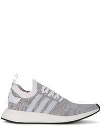 nmd r2 primeknit grey
