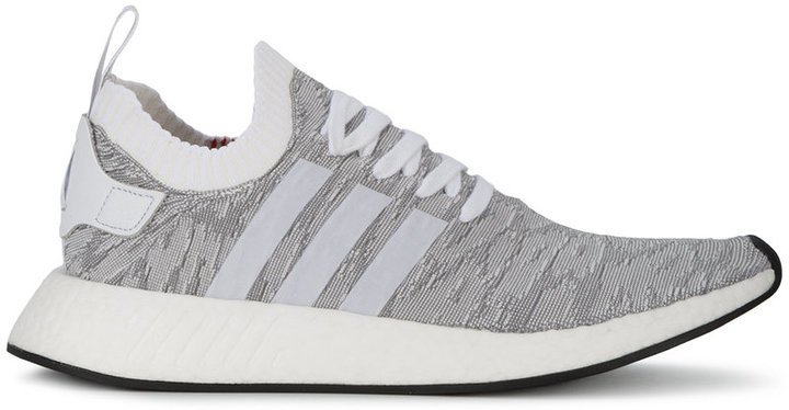 adidas originals nmd r2 trainers in white and grey