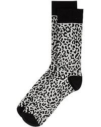 Grey Leopard Socks