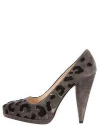 Suede platform pumps medium 5209491