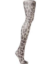 Acne Studios Kanne Leo B Leopard Print Tights Leopard Print