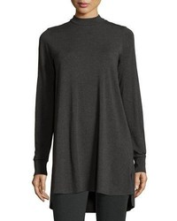 Eileen Fisher Lightweight Mock Neck Long Tunic