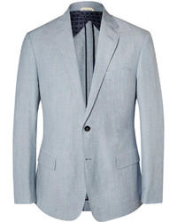 Billy Reid Blue Linen And Wool Blend Blazer