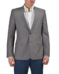 Versace Collection Wool Linen Gray Two Buttons Blazer Us 38 It 48