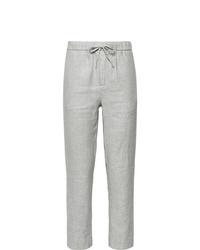 Frescobol Carioca Sandro Linen And Cotton Blend Drawstring Trousers