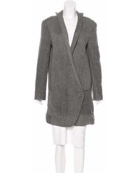Theyskens' Theory Linen Button Up Coat