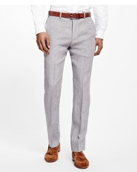 Brooks Brothers Fitzgerald Fit Linen Trousers