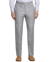 Grey linen and cotton dress trousers medium 236381