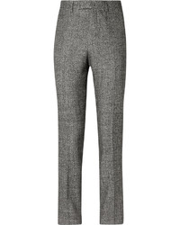 Raf Simons Grey Wool Silk Linen And Cashmere Blend Suit Trousers