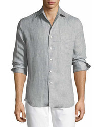 Andrew long sleeve linen shirt medium 6978852