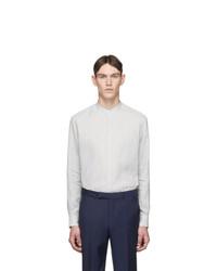 Ermenegildo Zegna Grey Linen Shirt