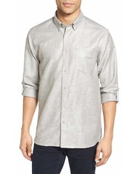 Ted Baker London Laavno Extra Slim Fit Linen Blend Sport Shirt