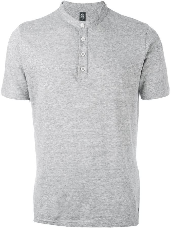 aa4349eb Eleventy Collarless Polo Shirt, $150 | farfetch.com | Lookastic.com