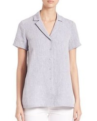 Paula short sleeve linen blouse medium 3718758
