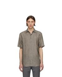 Z Zegna Grey Linen Shirt