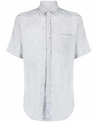 Canali Short Sleeved Linen Shirt