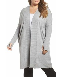 Caslon Off Duty Long Open Front Cardigan