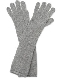 Ladies burgundy unique long cashmere gloves medium 6860597