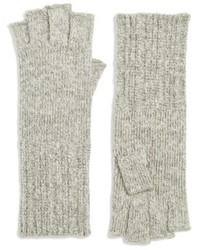 Halogen Rib Knit Fingerless Gloves