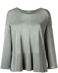 Egrey boat neck knit blouse medium 3637387