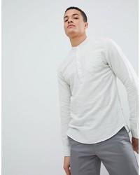 ONLY & SONS Half Placket Linen Mix Shirt